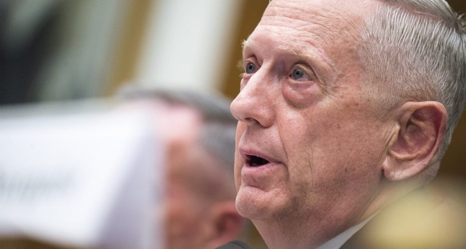 """Massive military response"" if N. Korea threatens U.S.: Mattis"