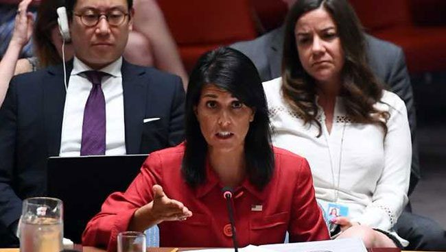 U.S. to submit new N. Korea sanctions at UN this week: Haley