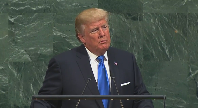 Trump threatens total destruction of North Korea in UN speech