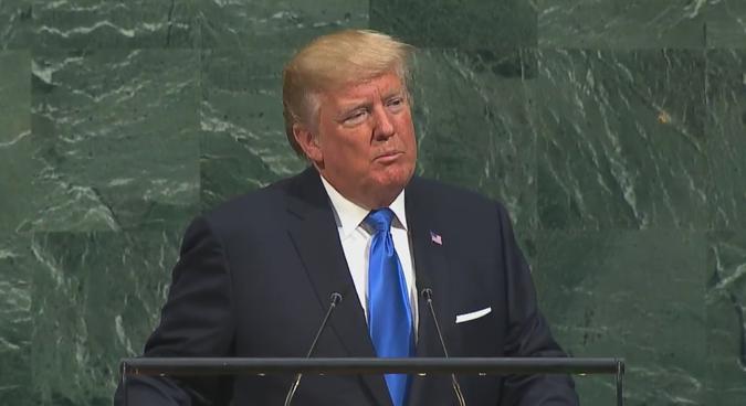 Trump threatens total destruction of North Korea in UN speech