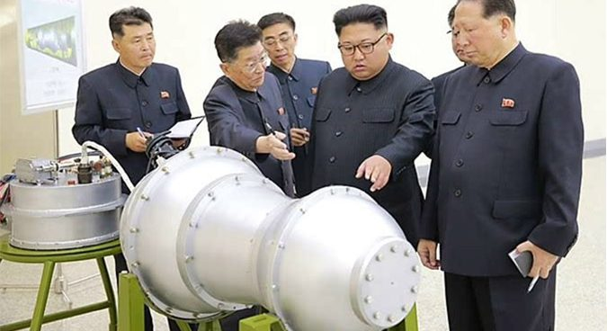 Kim Jong Un inspects thermonuclear weapon to be loaded in ICBM warhead