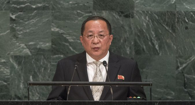 "North Korean FM delivers fiery speech at UN, calls Trump ""deranged"""