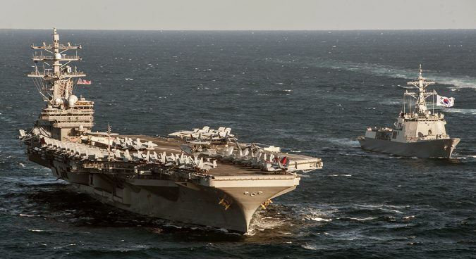 U.S. aircraft carrier, ROK navy to stage drills off Korean peninsula