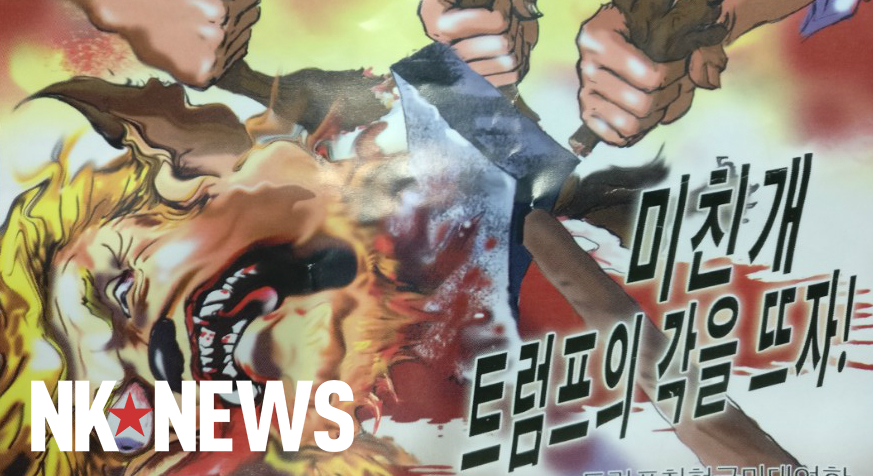 "Violent pro-North Korean leaflet threatens ""crazy dog"" Trump with decapitation"