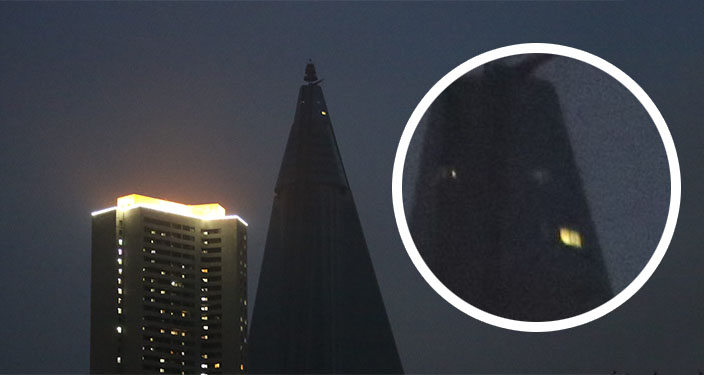 More Construction Activity Observed At Pyongyangs Iconic Ryugyong Hotel on Multiple Circles