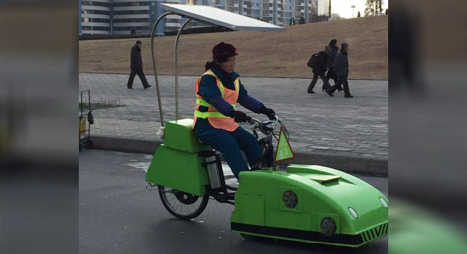 Solar powered street cleaners emerge on streets of Pyongyang: photos