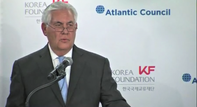"""U.S. would talk with North Korea """"without precondition"""": Tillerson"""