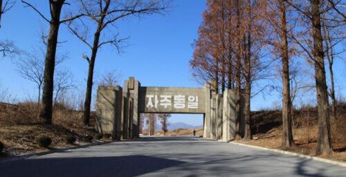 N. Korea installs new gate, further security precautions along road to Panmunjom