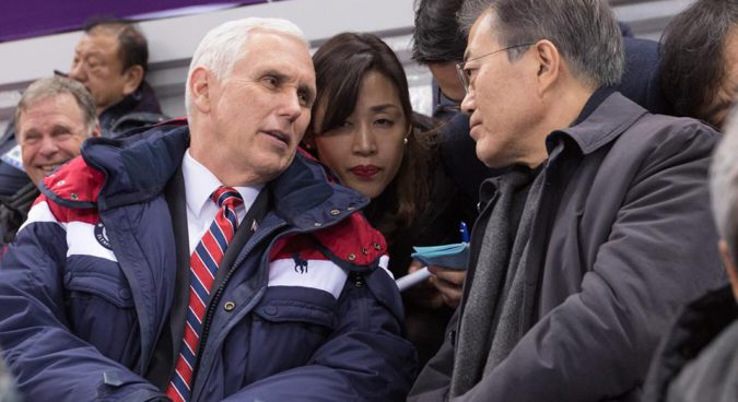 """""""We'll talk"""" to North Korea, says Mike Pence"""