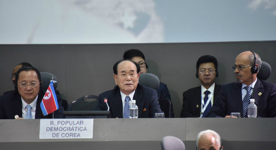 The great survivor: after 21 years at the top, Kim Yong Nam steps down