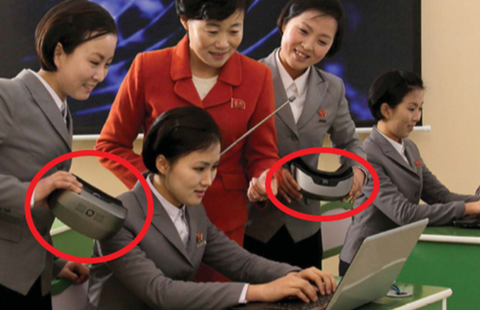 N. Korean media shows Chinese VR headsets made with South Korean, UK parts