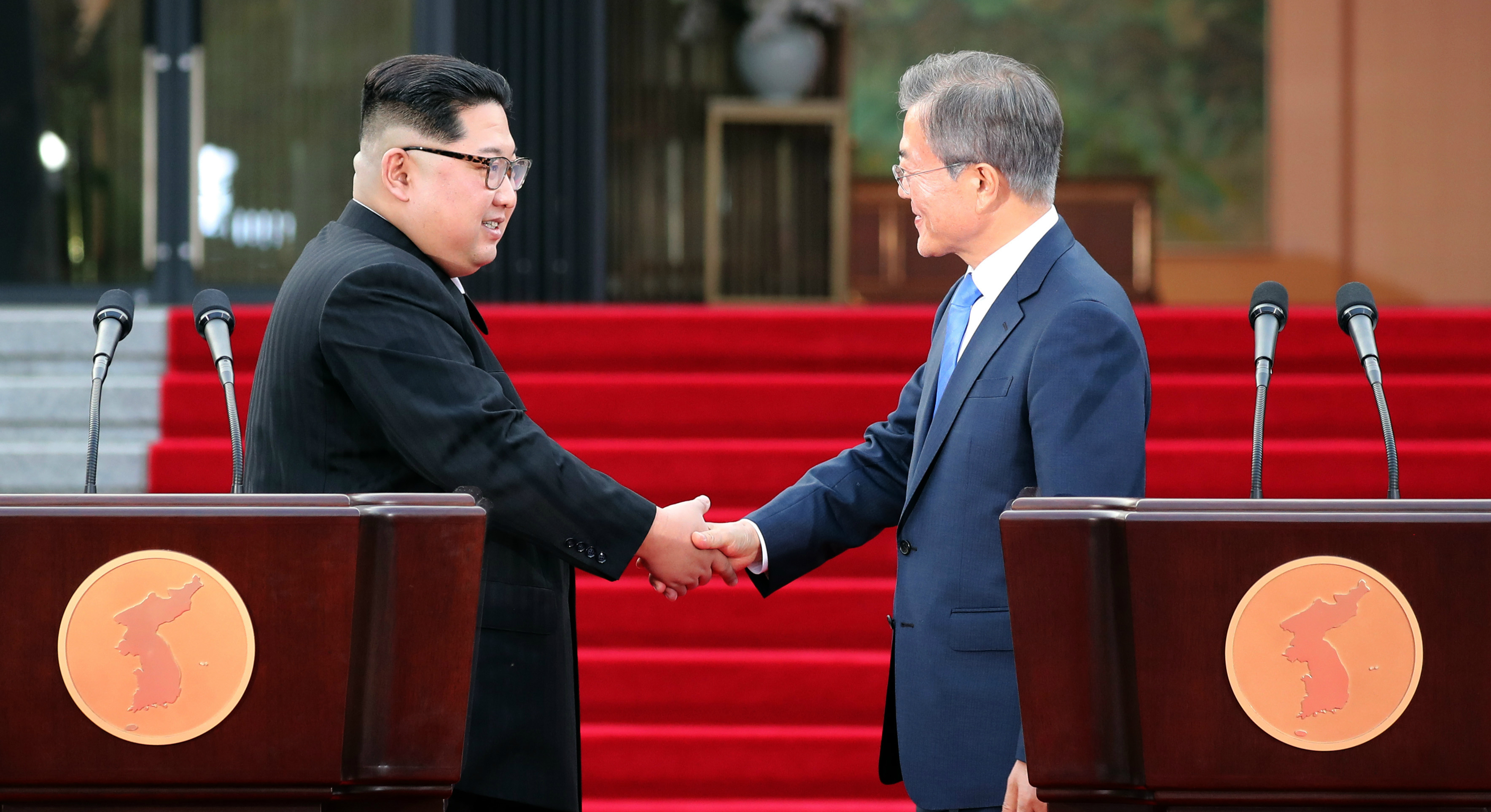 the two koreas and the responsibility of Moon's comments about trump's role,  for now, trump appears to approve of the bilateral talks between the two koreas and suggested that the us would also be open to the possibility.