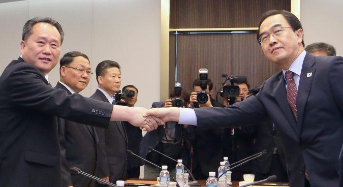 Two Koreas begin high-level talks at Panmunjom