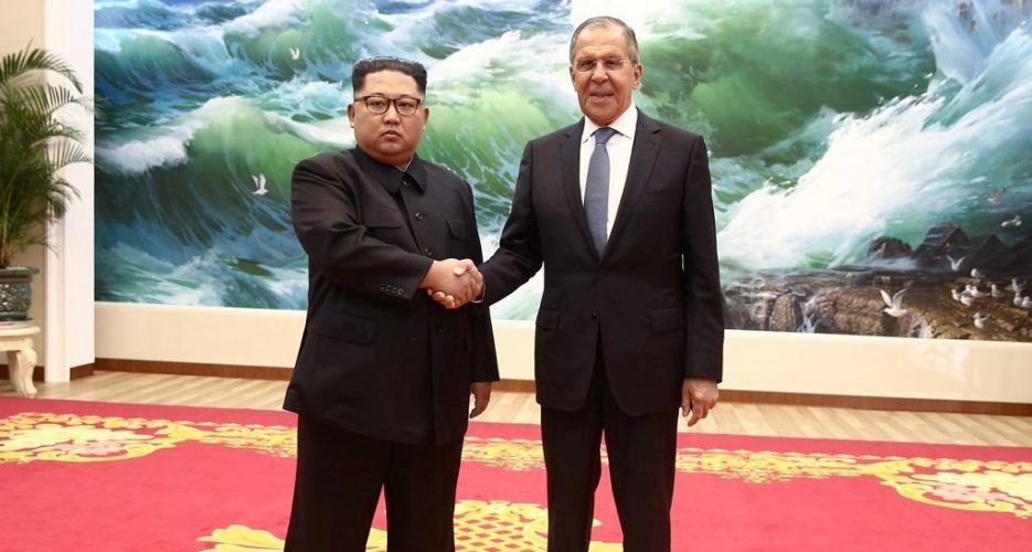 Sergey Lavrov meets Kim Jong Un in Pyongyang, invites him to Russia