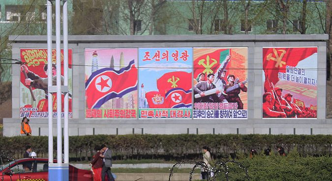 In Pyongyang, anti-U.S. propaganda posters mostly disappear