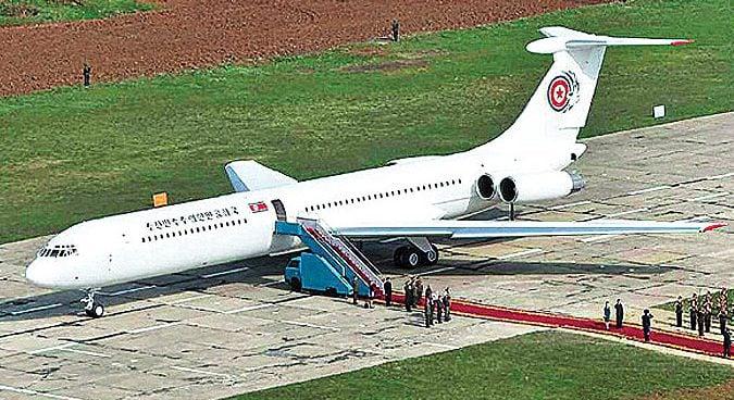 Kim Jong Un's private jet en route to Singapore, data indicates