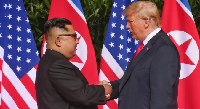 Kim, Trump meet for historic summit in Singapore
