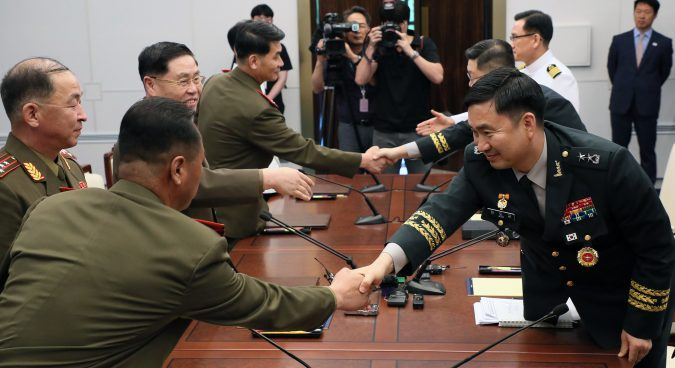 "Two Koreas discuss ""substantive"" steps towards relieving military tensions"