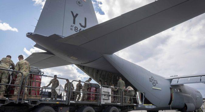 U.S.A.F. cargo plane left Pyongyang on Saturday morning, flight purpose unknown