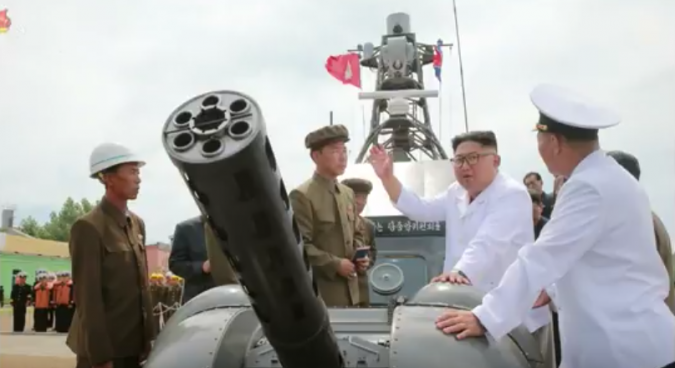 First images of newly-built North Korean warship published by state media
