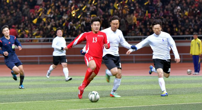 "65-member DPRK group plans to visit S. Korea for ""unification soccer"" matches"