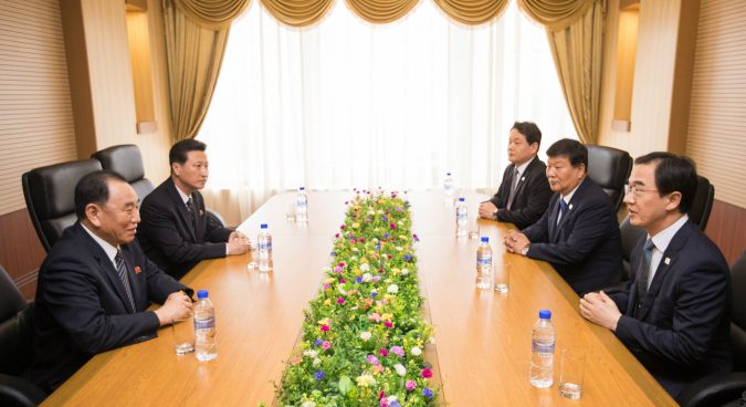 North Korea's Kim Yong Chol meets ROK officials in Pyongyang