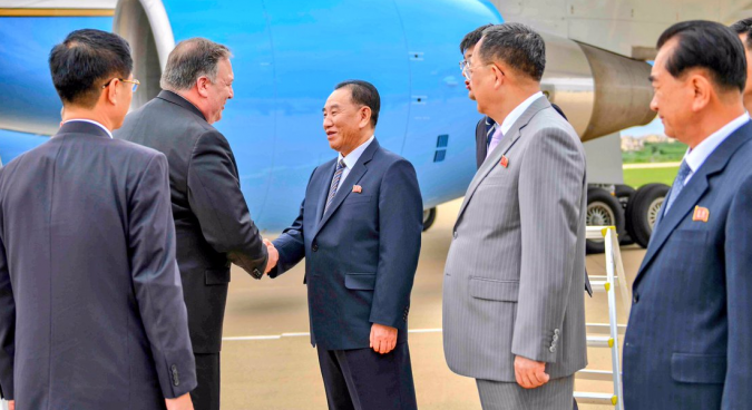 "Pompeo in Pyongyang to ""fill in some details"" on denuclearization"