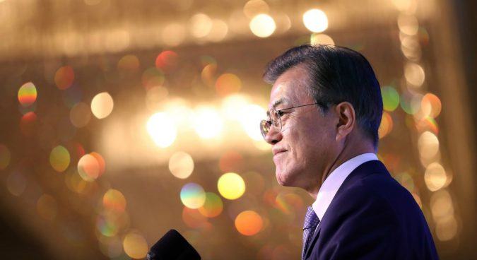 "Two Koreas can establish ""economic community"" following denuclearization: Moon"