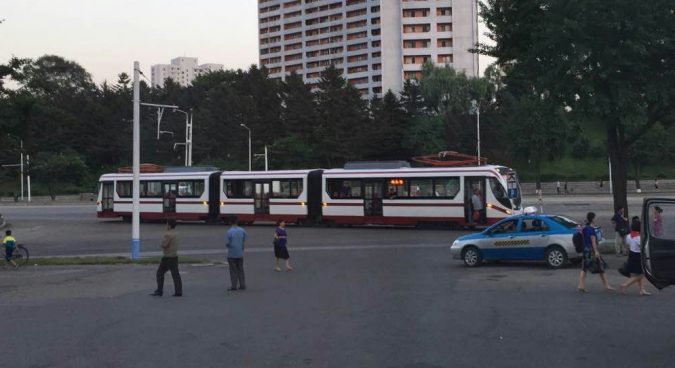 New tram cars appear on Pyongyang's Liberation Street line