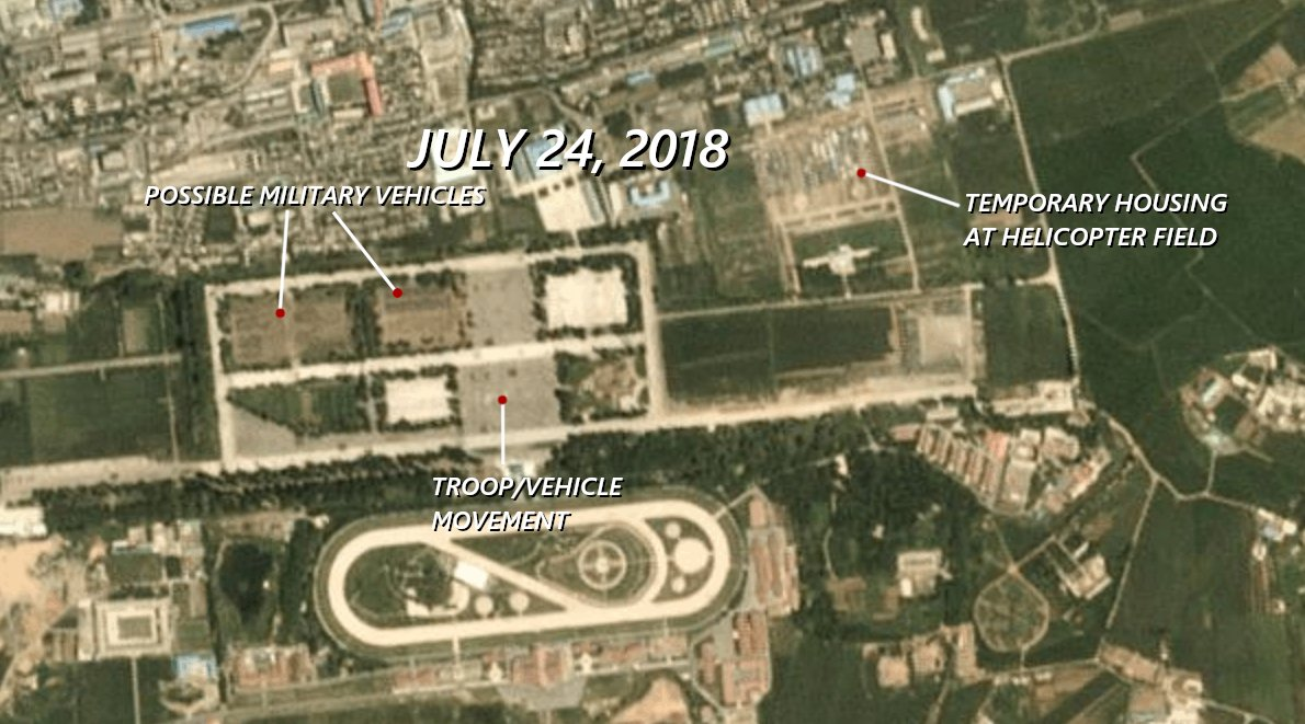 Satellite imagery hints at possible military component at N.Korean anniversary event