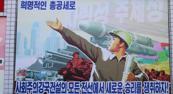 Missile, rocket propaganda continues to appear in parts of Pyongyang