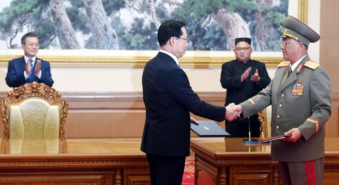Two Koreas agree to end military exercises near border, withdraw GPs in DMZ