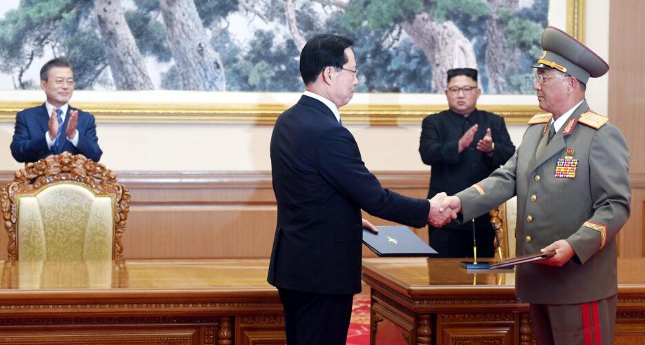 Two Koreas agree to end military exercises near border, withdraw GPs in DMZ