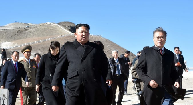 South Korean President visits Mt. Paektu as three-day summit draws to a close