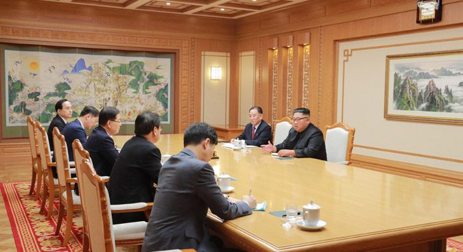 "Kim Jong Un reaffirmed ""determination to denuclearize"" to ROK envoys: KCNA"
