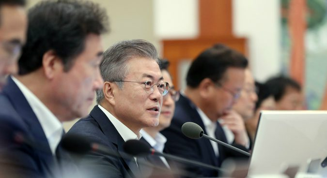 Moon aiming for a peace declaration with North Korea this year
