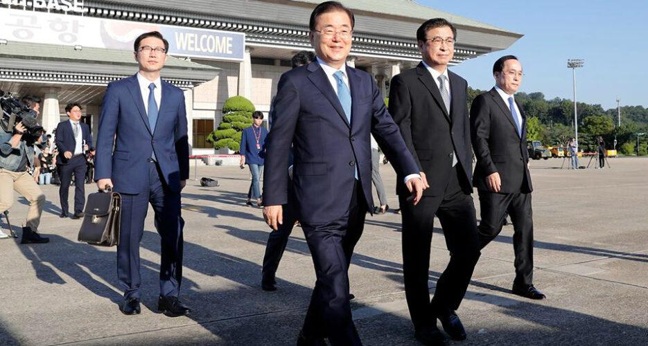 South Korean special envoys begin high-level talks in Pyongyang