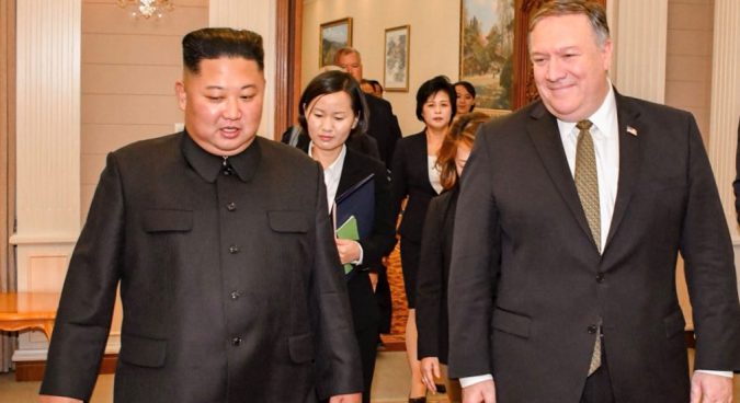 "Pompeo meets Kim Jong Un, agrees to hold summit at ""earliest possible time"""