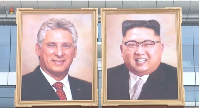 North Korea unveils likely first official Kim Jong Un portrait at Cuba summit