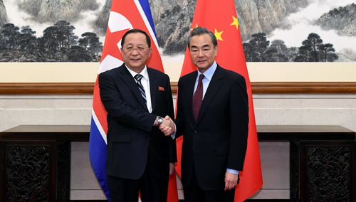 "China reiterates support for DPRK's ""new strategic line"" at Ri, Wang meeting"