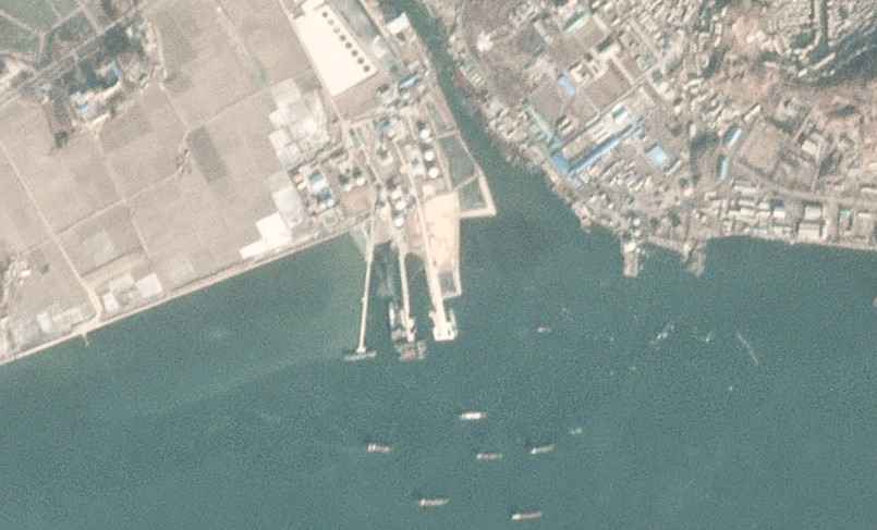 Satellite imagery shows continued progress at Nampho oil terminal