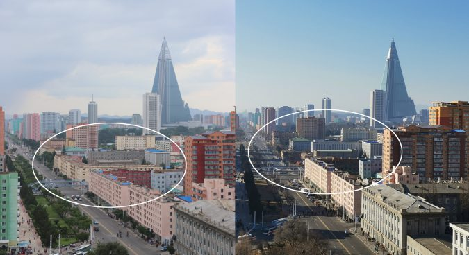 Major demolition underway in central Pyongyang's Moranbong district: imagery