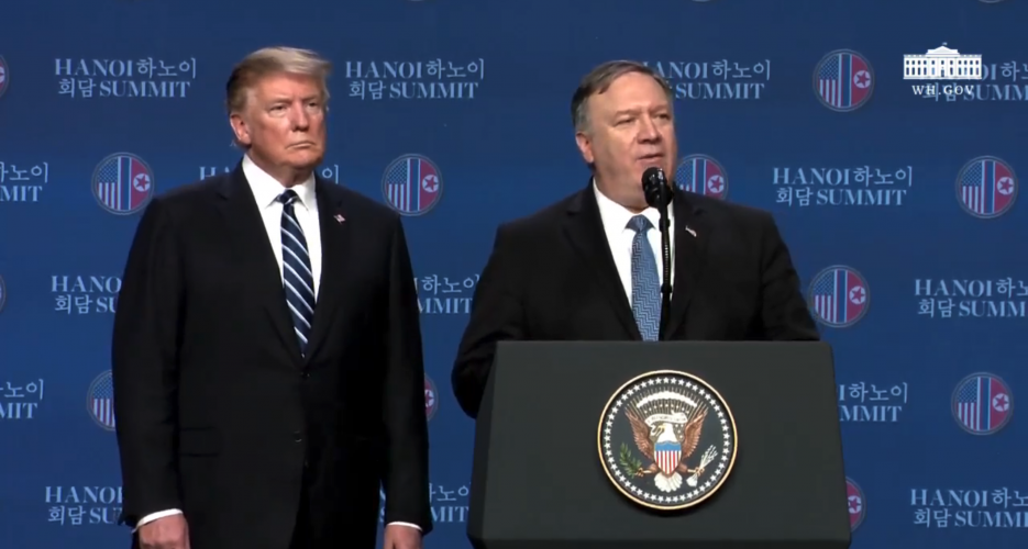 "Secretary Pompeo hopes for a third Trump-Kim meeting ""before too long"""