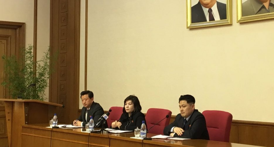 "North Korea has ""no intention"" of yielding to present U.S. demands: vice FM"