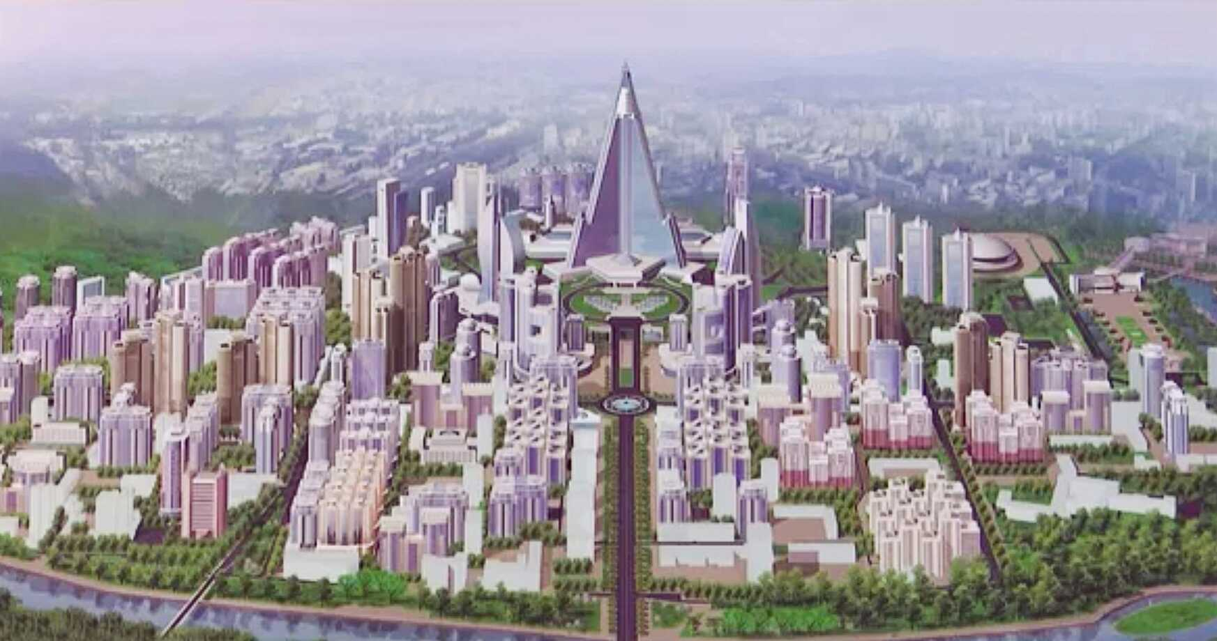 KCTV reveals large-scale plans for district surrounding iconic Ryugyong Hotel
