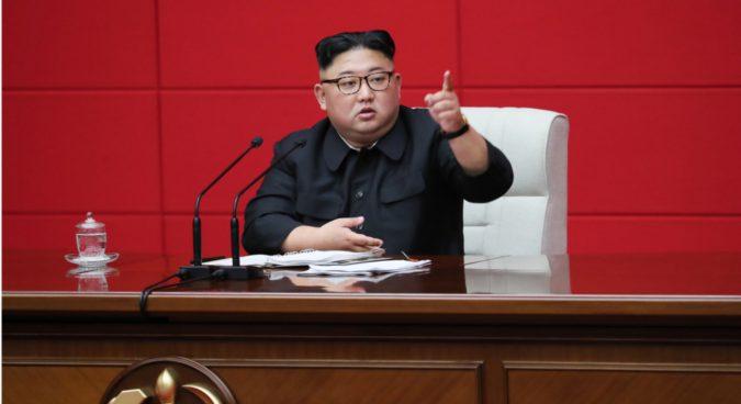 "N. Korea must deal a ""blow"" against hostile forces, Kim Jong Un tells ruling party"