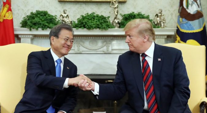 "U.S. focused on ""big deal"" for North Korean denuclearization, Trump tells Moon"
