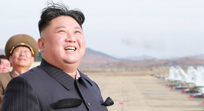 "Kim Jong Un praises army's ""readiness"" following impromptu air combat exercise"