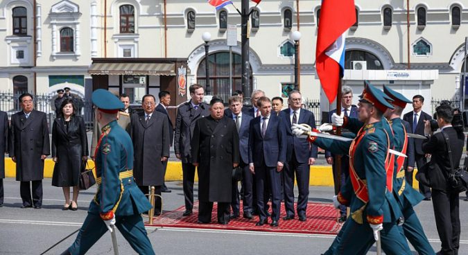 Kim Jong Un departs for home after ceremony and lunch in Vladivostok