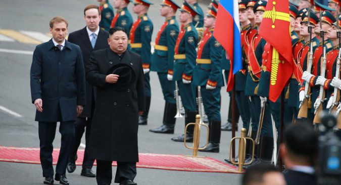 Kim Jong Un arrives in Vladivostok as meeting with Putin set for Thursday